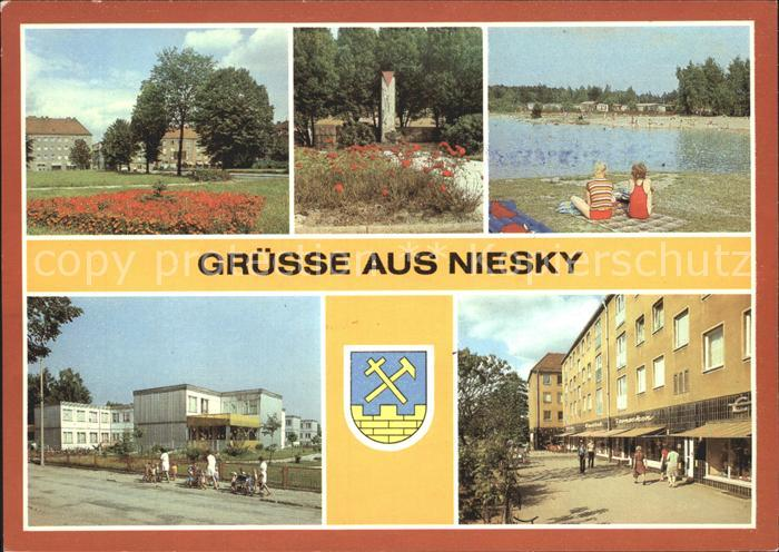Niesky Zinzendorfplatz Strasse der Befreiung Kinderkrippe Kat. Niesky