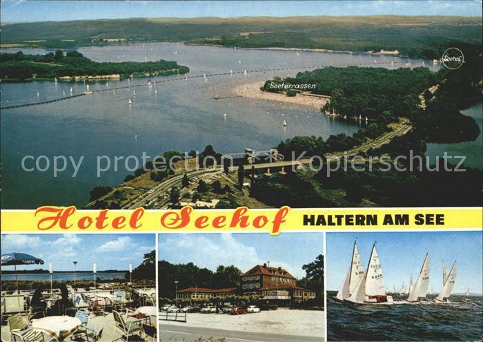 Haltern Hotel Seehof Segelboot  Kat. Haltern am See