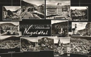 Pforzheim Staedte im Schwarzwald Nagoldtal Enztal Bromsilber Kat. Pforzheim
