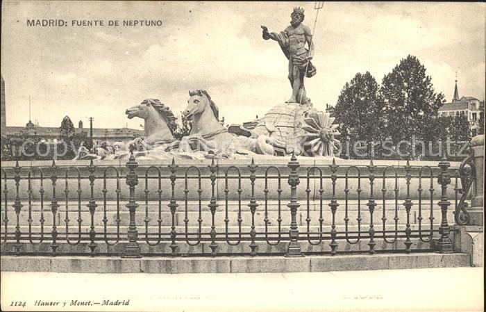 Madrid Spain Fuente de Neptuno Kat. Madrid