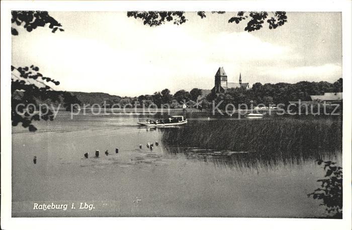 Ratzeburg Blick zur Kirche Naturpark Lauenburgische Seen Kat. Ratzeburg