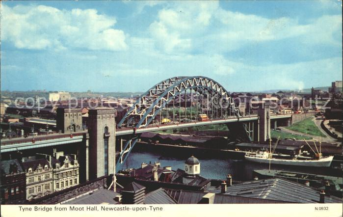 Newcastle upon Tyne Tyne Bridge from Moot Hall Kat. Newcastle upon Tyne