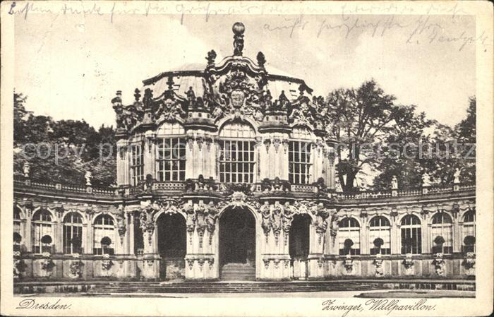 Dresden Zwinger Wallpavillon Kat. Dresden Elbe