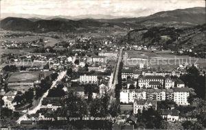 Graz Steiermark Schlossberg Blick gegen das Grabenviertel Kat. Graz