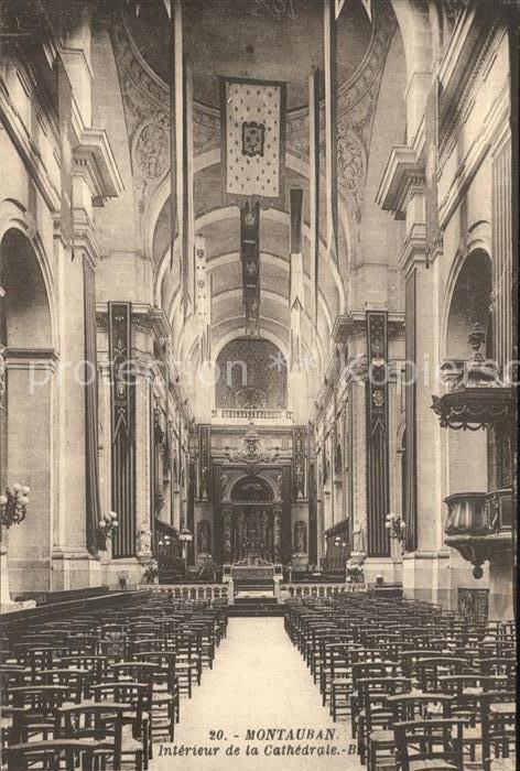 Montauban Inneres der Kathedrale  Kat. Montauban