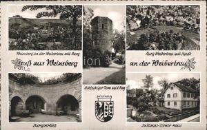 Weinsberg Achteckiger Turm Burg Weibertreu  Kat. Weinsberg