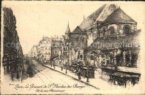 Paris Zeichnung S. Nicolas des Champs Kat. Paris