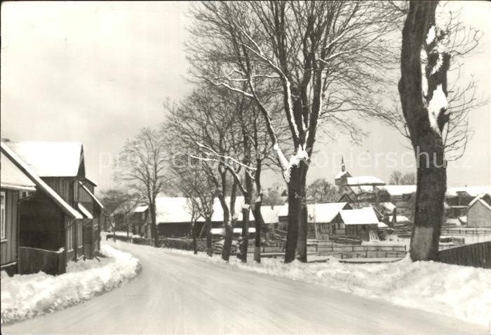 Hasselfelde Stieger Strasse im Winter Kat. Hasselfelde