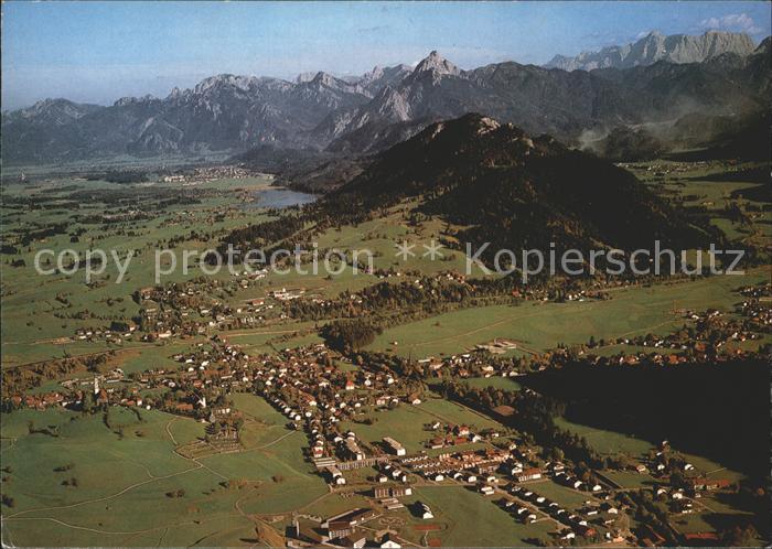 Pfronten Alpenpanorama Fliegeraufnahme Kat. Pfronten