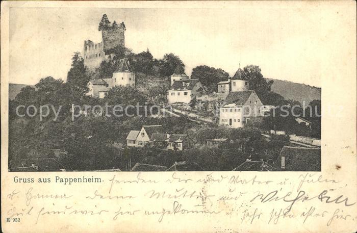 Pappenheim Mittelfranken Burgruine Pappenheim / Pappenheim /Weissenburg-Gunzenhausen LKR