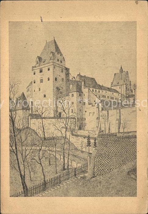 Trausnitz Burg Trausnitz Federzeichnung Kat. Trausnitz
