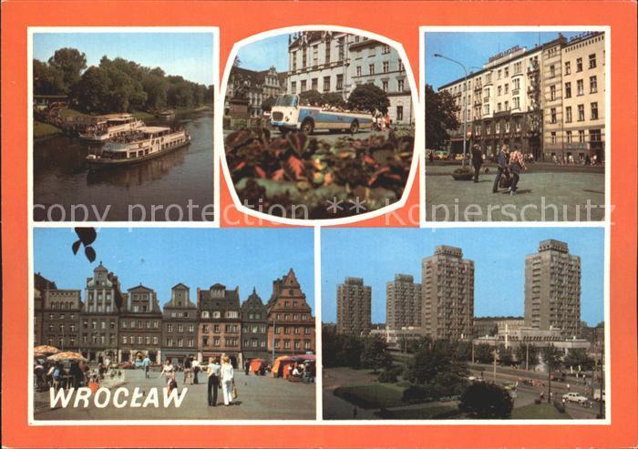 Wroclaw Przystan pasazerska Zeglugi Autokar Fredrus Grand Hotel Plac Solny Plac Grunwaldzki Kat. Wroclaw Breslau