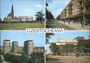 Czestochowa Schlesien Klasztor na Jasnej Gorze Aleja NMP Osiedle mieszkaniowe Tysiaclecia Gmach Filharmonii Kat. Tschenstochau