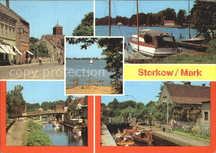 Storkow Mark Altstadt Am Storkower See Am Kanal Schleuse Kat. Storkow Mark