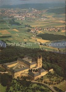 Schloss Banz Kloster Banz und Hotel Schlossgasthof Fliegeraufnahme Kat. Bad Staffelstein