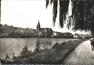 Pont sur Yonne Les bords de l`Yonne Kat. Pont sur Yonne