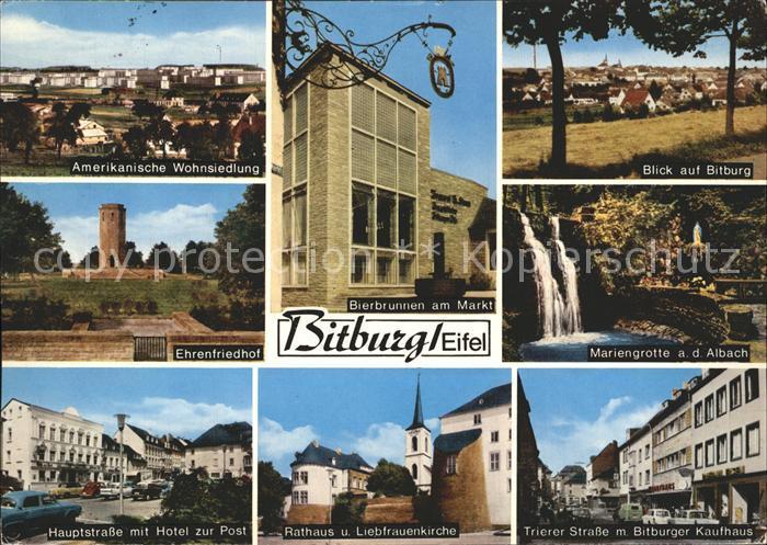 Bitburg Mariengrotte Trierer Strasse Bitburger Kaufhaus  Kat. Bitburg