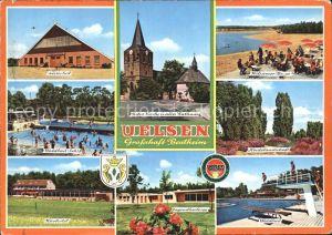 Uelsen Kurhotel Waldbad Rathaus Kat. Uelsen