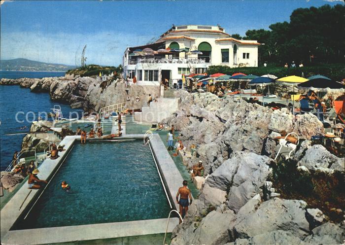 Ak ansichtskarte cap d antibes schwimmbad eden roc nr for Piscine alpes maritimes