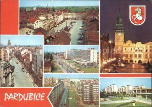 Pardubice Pardubitz Wappen Trida Miru v pozadi Zelena brana Kat. Pardubice