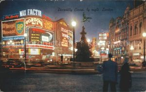 London Piccadilly Circus by night Kat. City of London