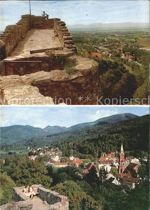 Badenweiler Blick von Burgruine Kat. Badenweiler
