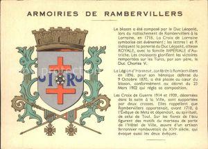 Rambervillers Wappen Kat. Rambervillers