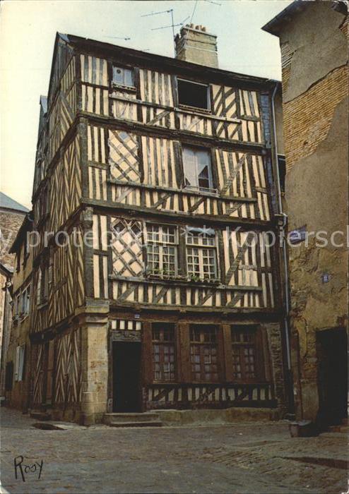 Rennes altes FAchwerkhaus Rue du Chapitre Kat. Rennes