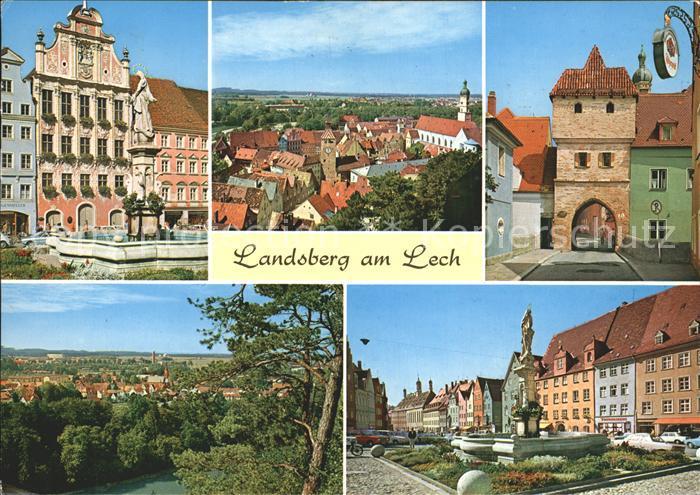 Landsberg Lech Brunnen Tor  Kat. Landsberg am Lech