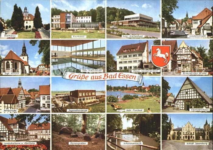 Bad Essen Sole Hallenbad Kurhaus Lindenstrasse Rathaus Jugendherberge  Kat. Bad Essen