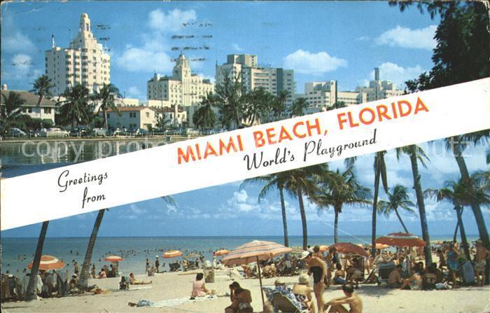 Miami Beach Hotels and Beach Kat. Miami Beach