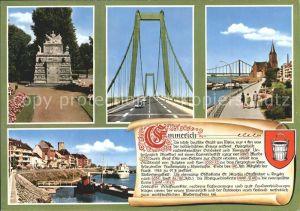 Emmerich Rhein Rheinpartie Bruecke Denkmal Kat. Emmerich am Rhein