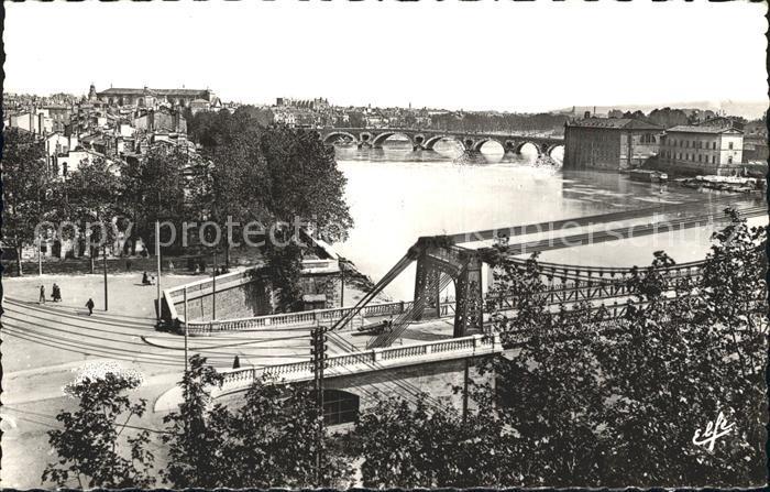 Toulouse Haute Garonne Vue sur la Garonne Kat. Toulouse