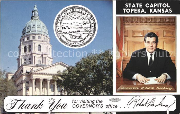 Topeka Kansas State Capitol Governor Robert Docking Kat. Topeka