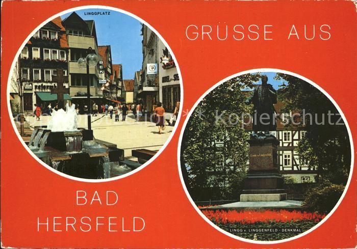 Bad Hersfeld Linggplatz Linggdenkmal Kat. Bad Hersfeld