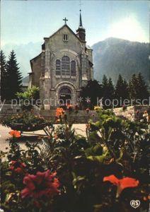 Chamonix Mont Blanc Eglise et le Brevent Kat. Chamonix Mont Blanc