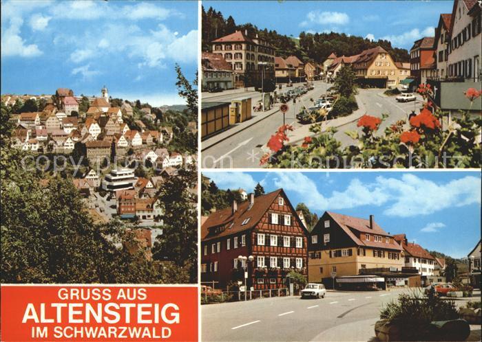 Altensteig Schwarzwald Total Ortsansicht Strassenpartie / Altensteig /Calw LKR
