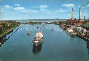Kiel Nord Ostsee Kanal Holtenauer Schleuse Kat. Kiel