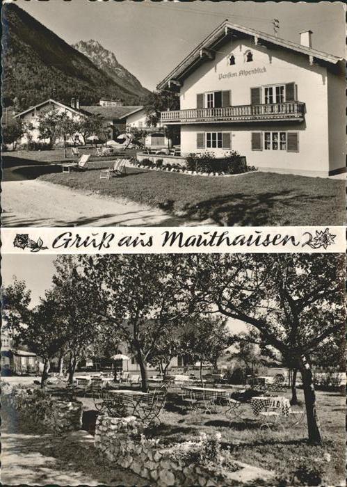 Mauthausen Piding Gasthaus Erberbauer Pension Alpenblick Kat. Piding