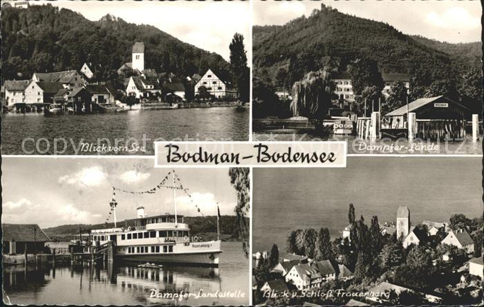 Bodman Ludwigshafen Dampfer Laende Fliegeraufnahme Blick vom See  Kat. Bodman Ludwigshafen