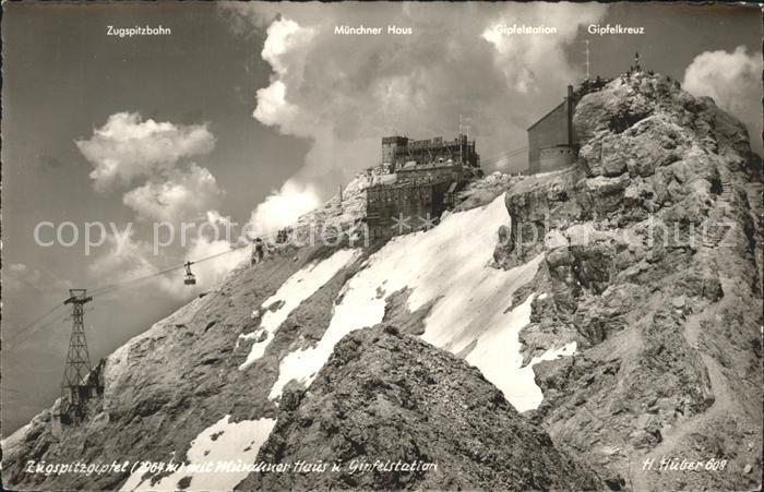 Zugspitze Gipfelkreuz Zugspitzbahn Muenchner Haus Gipfelstation Kat. Garmisch Partenkirchen 0
