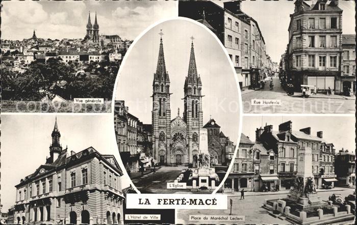 La Ferte Mace Gesamtansicht Kirche Marktplatz Kat. La Ferte Mace