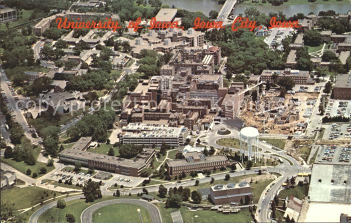 Iowa City Fliegeraufnahme University Kat. Iowa City