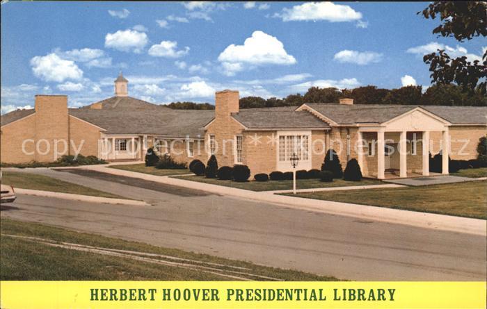 Iowa City Herbert Hoover Presidential Library Kat. Iowa City