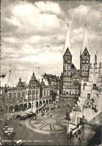 Bremen Marktplatz mit Rathaus und Dom  Kat. Bremen