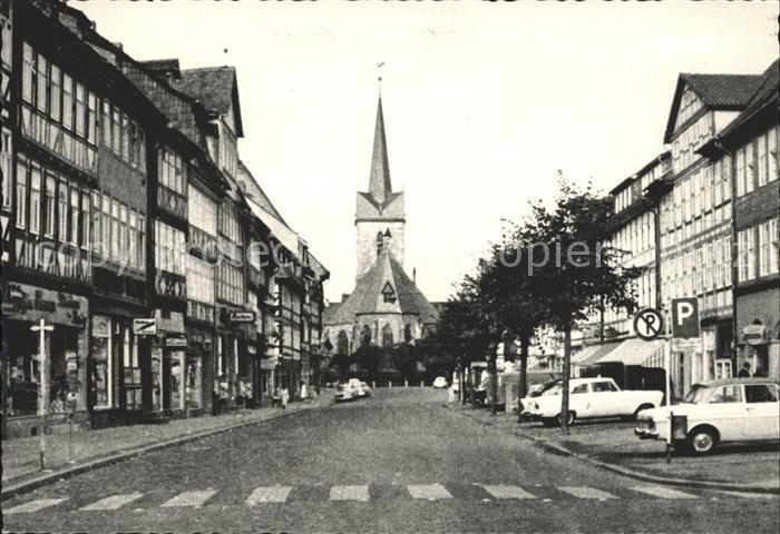 Duderstadt Marktstrasse mit Sankt Servatius Kirche  Kat. Duderstadt