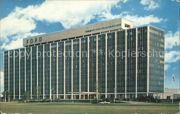 Dearborn Michigan Ford Motor Company Central Office Building Kat. Dearborn