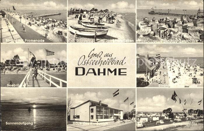 Dahme Ostseebad Strand Promenade Seebruecke Sonnenaufgang Haus des Kurgastes Campingplatz Kat. Dahme