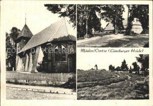 Mueden oertze Kirche Dorfeingang Wietzer Berg Lueneburger Heide Kat. Fassberg