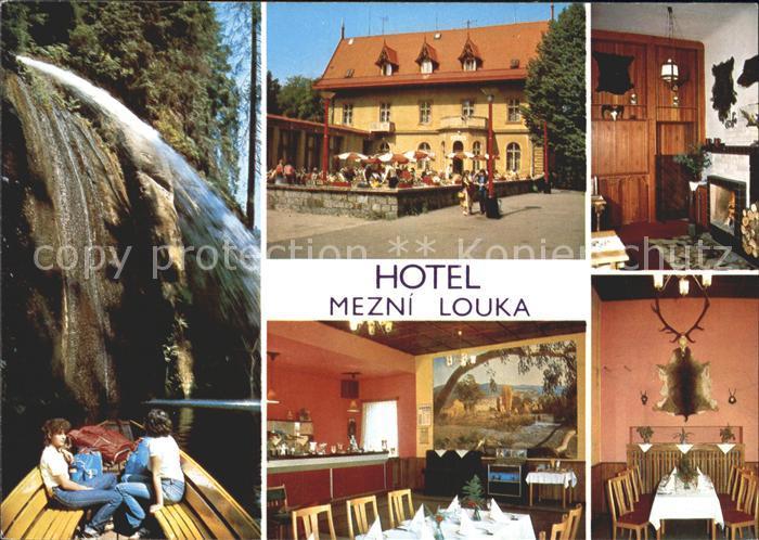 Hrensko Hotel Mezni Louka Restaurant Wasserfall Kat. Herrnskretschen
